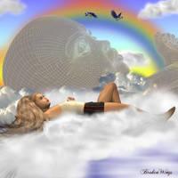Dreaming of Rainbows by BrokenWings3D