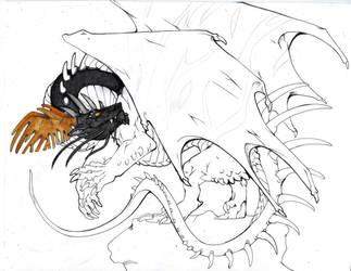 Black Dragon WIP by lonespirits