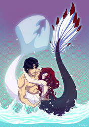 Lucia and Alec MerMay by Ailita-Kuro