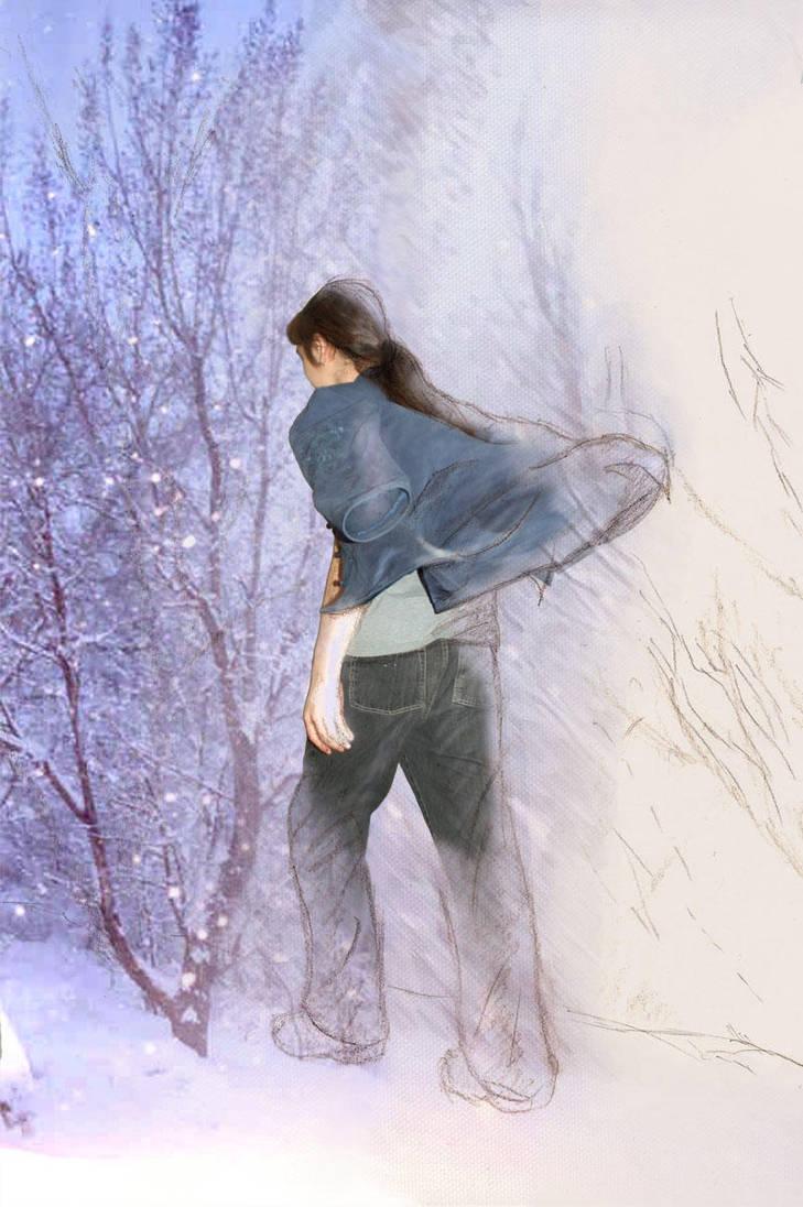 never look back portrait by Akouma