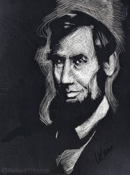 Scratchboard Abraham Lincoln by urbied