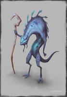 lizard man by bluerainCZ