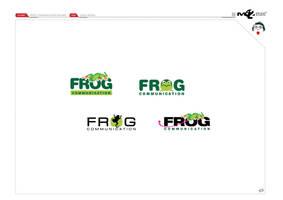 Logo Design frog Communication by mushroomstick2