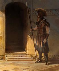 Greek warrior by kristmiha