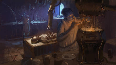 Alien kitchen by kristmiha