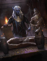 Egyptian Drow by kristmiha