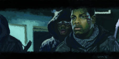 Attack the Block digi painting by Alec-M