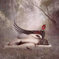 Wounded Angel by vivi-art
