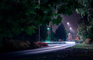 Evening road by RasmusLuostarinenArt