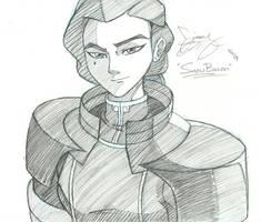 Kuvira Sketch by Snowbacon