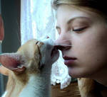 My cat loves me ^^ by Rageandlove4