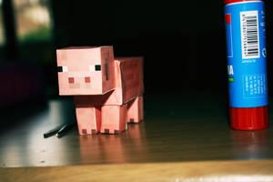 Derp pig - Minecraft by fayechan