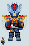 Chibi Rider sprite - Great Cross-Z by Malunis
