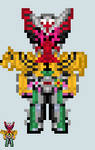Chibi Rider sprite - Zi-O (OOOArmor) by Malunis