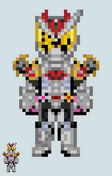 Chibi Rider sprite - Zi-O (KivaArmor) by Malunis