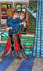 Star Trek Fanart: McKirk - Right in Time 2 Color by HELENDRAGON
