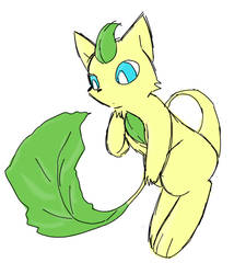 LeafeMew by Aquadivider