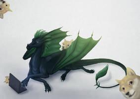 Zaatharen and doges by Kyasanuri