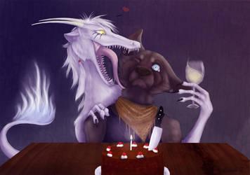Happy birthday and bon appetite by Kyasanuri