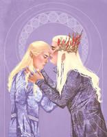 LotR+Thranduil and Legolas by Leyla-Lovely
