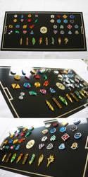 Pokemon Gym Badges Collection by blazerdesigns