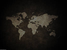 Global Map Wallpaper by Twilease