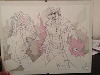 gambit and rogue xmen sketch by jasonhopking