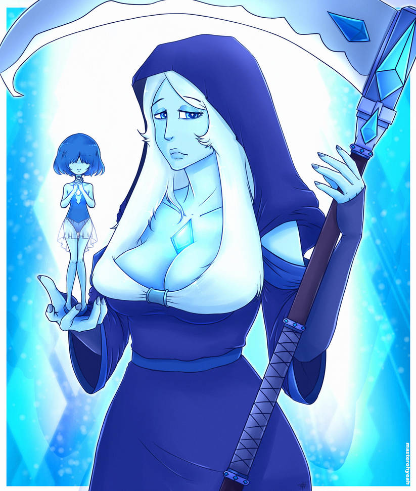 Blue Diamond from Steven Universe also with Blue Pearl I hope you like it
