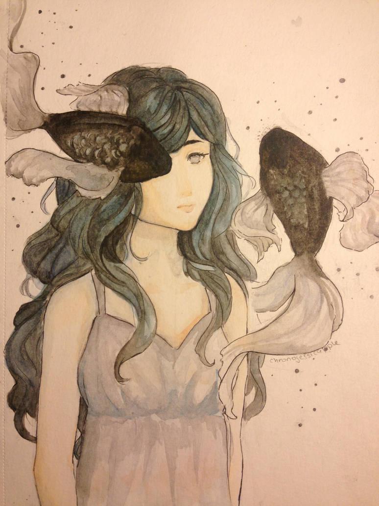 Fish Girl by chronojessicapple
