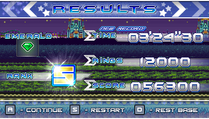 (Sonic vs Darkness TNR) Results Screen by Kainoso