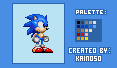 My First Sonic Sprite from scratch by Kainoso