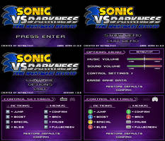 (Sonic vs Darkness TNR) Menu Screen Compilation by Kainoso