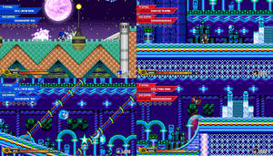 (Sonic vs Darkness TNR) Nightlite Castle by Kainoso