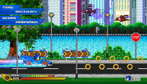 (Sonic vs Darkness) Metallic Streets Mockup by Kainoso