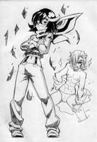 Kill la Kill cool Ryuuko by Rafchu