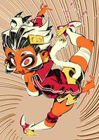 Monster girls challenge : Monkey Girl by Rafchu