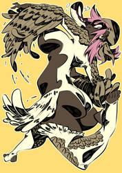 Monster girls challenge : Boobrie by Rafchu