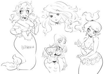 Azalea sketches by Rafchu