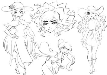 Dahlia sketches by Rafchu