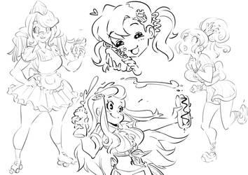 Daisy sketches by Rafchu