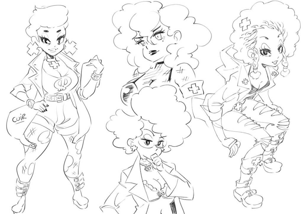Petunia sketches by Rafchu