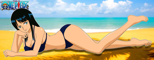Robin at The Beach by PervyAngel
