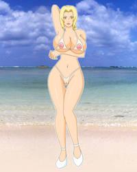 Tsunade Beach Babe by PervyAngel