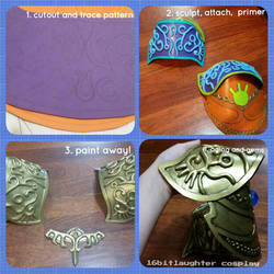 Tutorial: How I Made My Zelda Pauldrons by GothLoliChanKaru