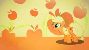 Applejack apples wallpaper minimalistic by Nidrax