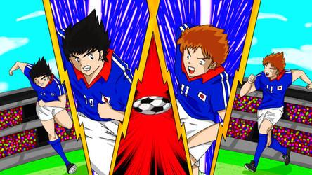 Tsubasa to Misaki Goruden Duo by rambopanza