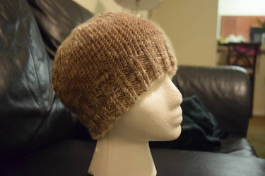 Taupe and Cream Ombre Hat by BlackRose2172