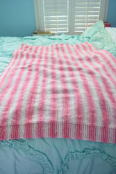 Pink and White Baby Blanket by BlackRose2172