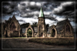Cardiff Cementary HDR by LyrixDeRaven