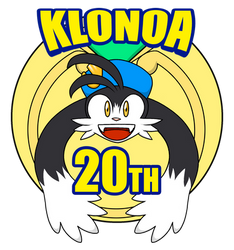 Klonoa 20th Anniversary Logo by Chris-Draws